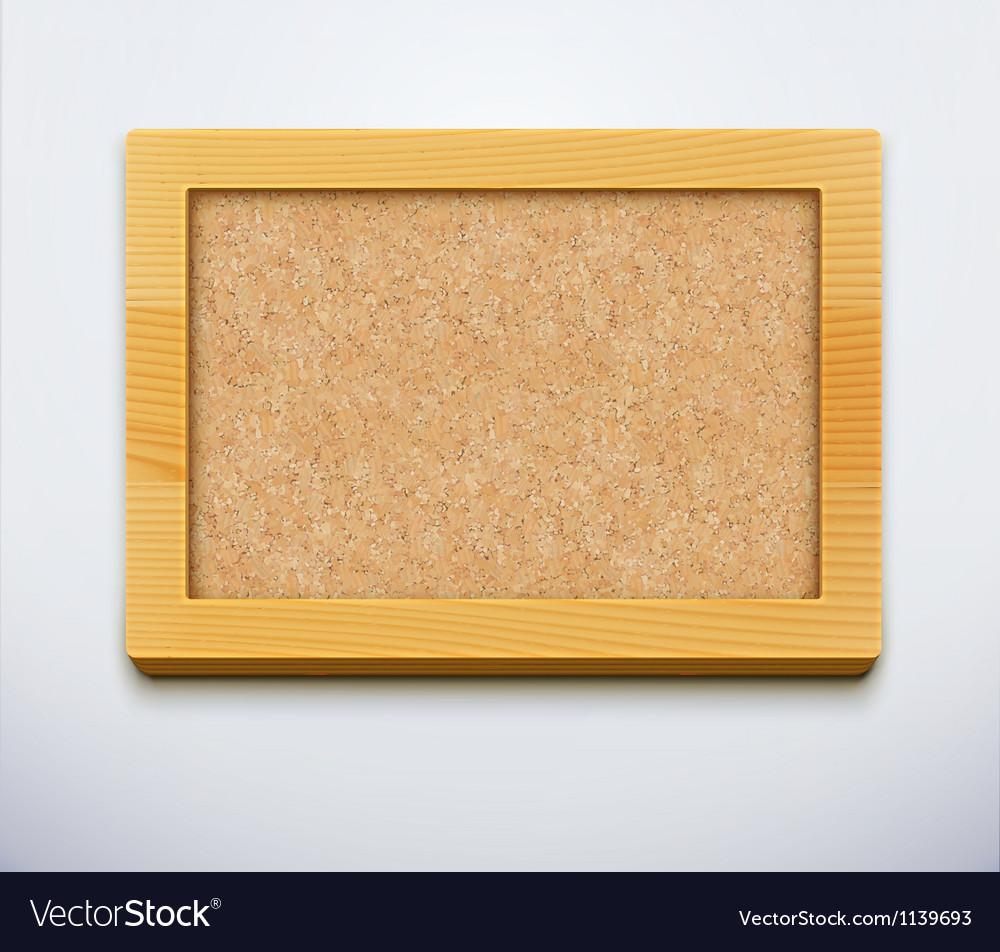 Cork bulletin board vector | Price: 1 Credit (USD $1)