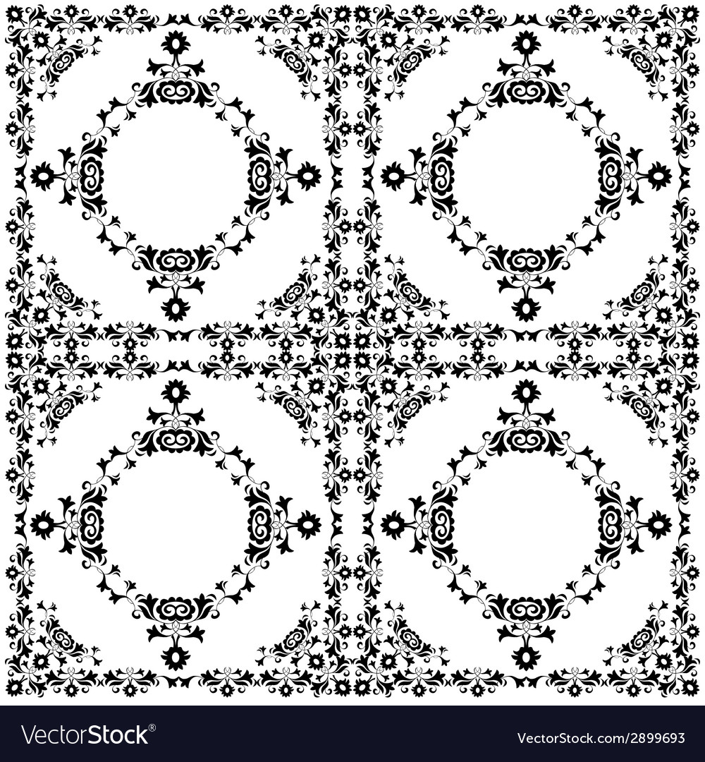 Oriental style seamless pattern twelve vector | Price: 1 Credit (USD $1)