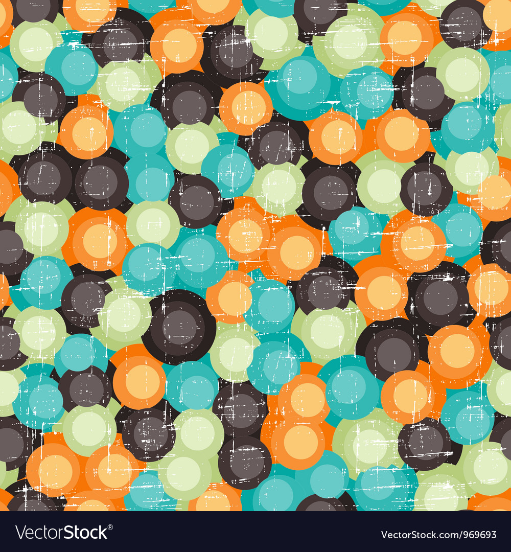 Retro bubbles pattern vector | Price: 1 Credit (USD $1)