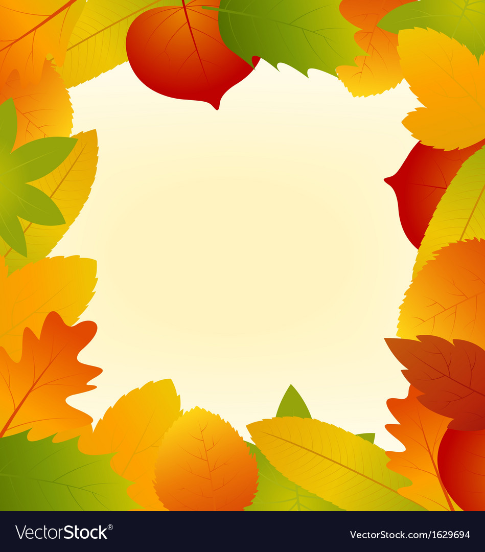 Autumn leaves frame isolated on background vector | Price: 1 Credit (USD $1)
