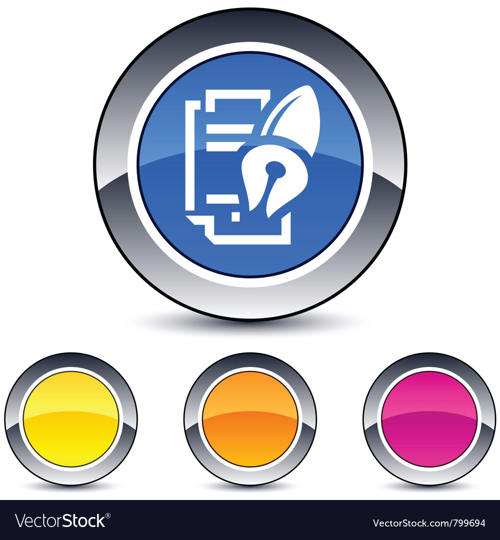 Form and pen round button vector   Price: 1 Credit (USD $1)