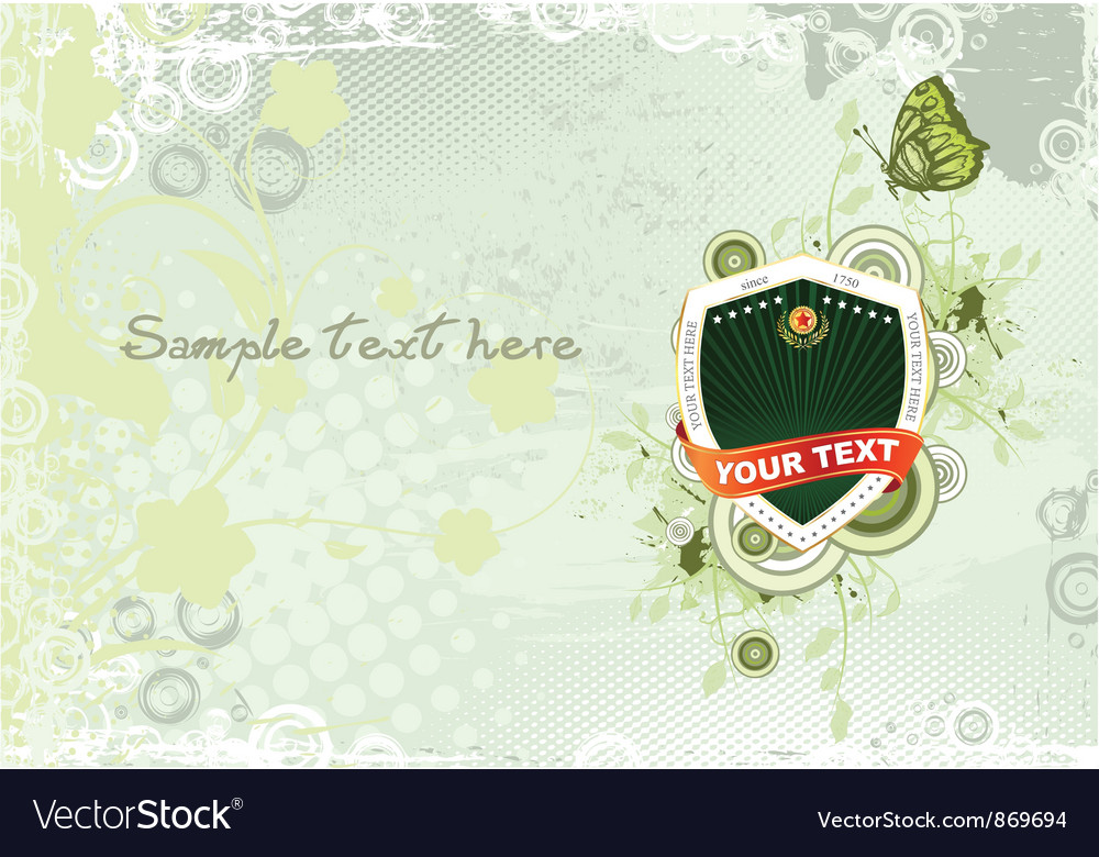 Label with abstract background vector | Price: 1 Credit (USD $1)