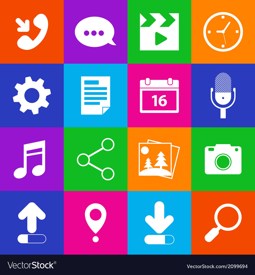 Mobile applications icons vector | Price: 1 Credit (USD $1)