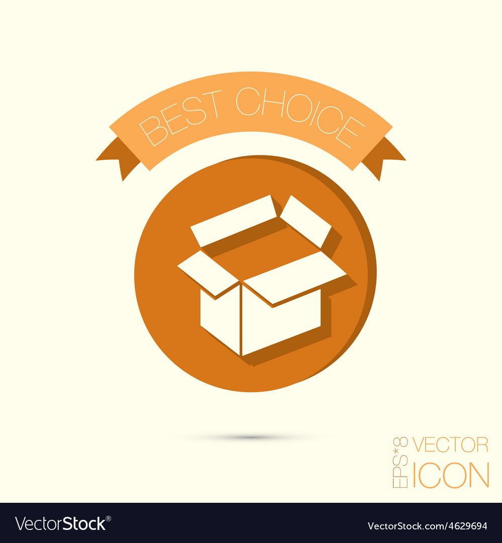 Opened cardboard box vector | Price: 1 Credit (USD $1)