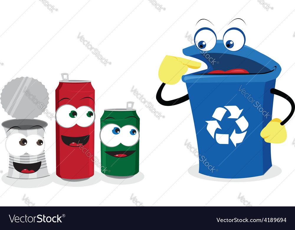 Recycling tin vector | Price: 1 Credit (USD $1)