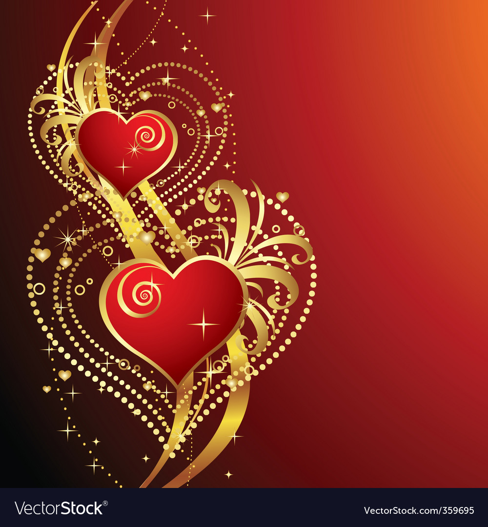 Beautiful background with hearts v vector | Price: 1 Credit (USD $1)