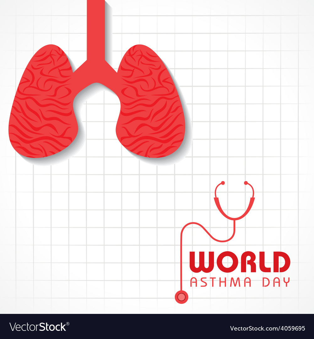 Creative world asthma day greeting vector | Price: 1 Credit (USD $1)