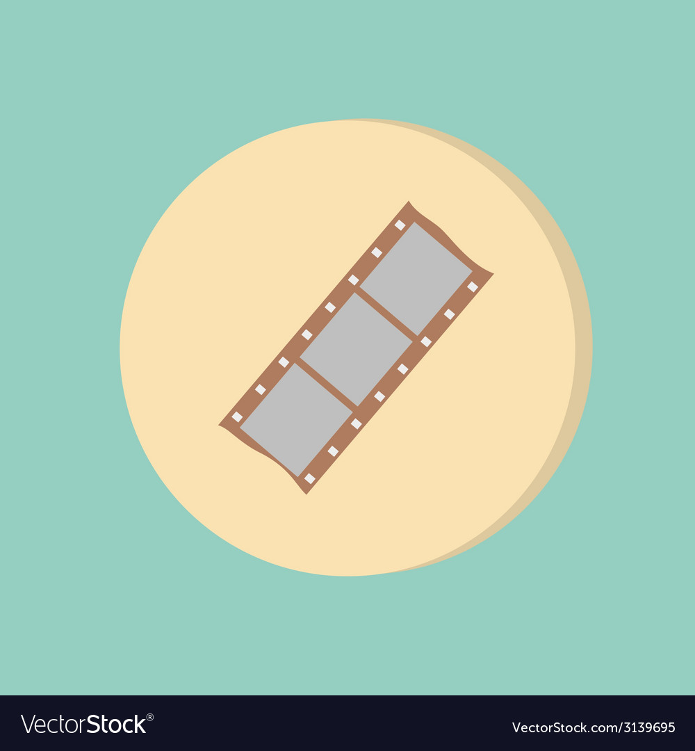 Film sign symbol of cinema vector | Price: 1 Credit (USD $1)