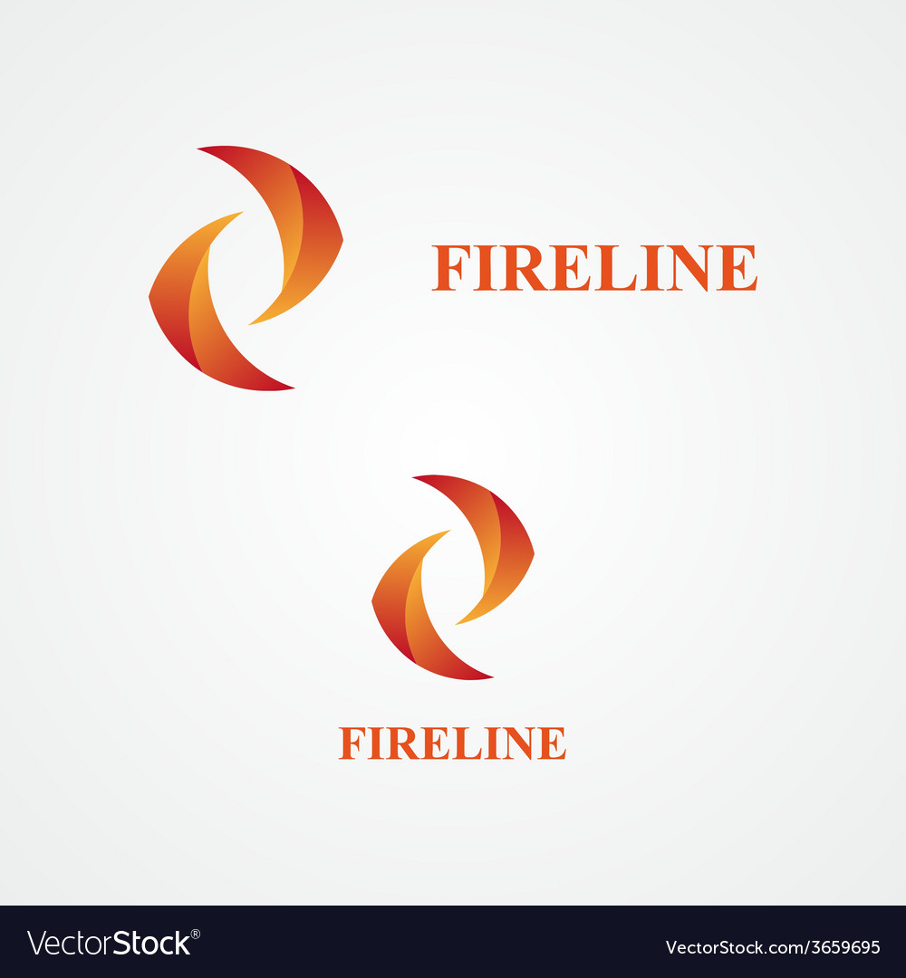 Fire abstract logo vector | Price: 1 Credit (USD $1)