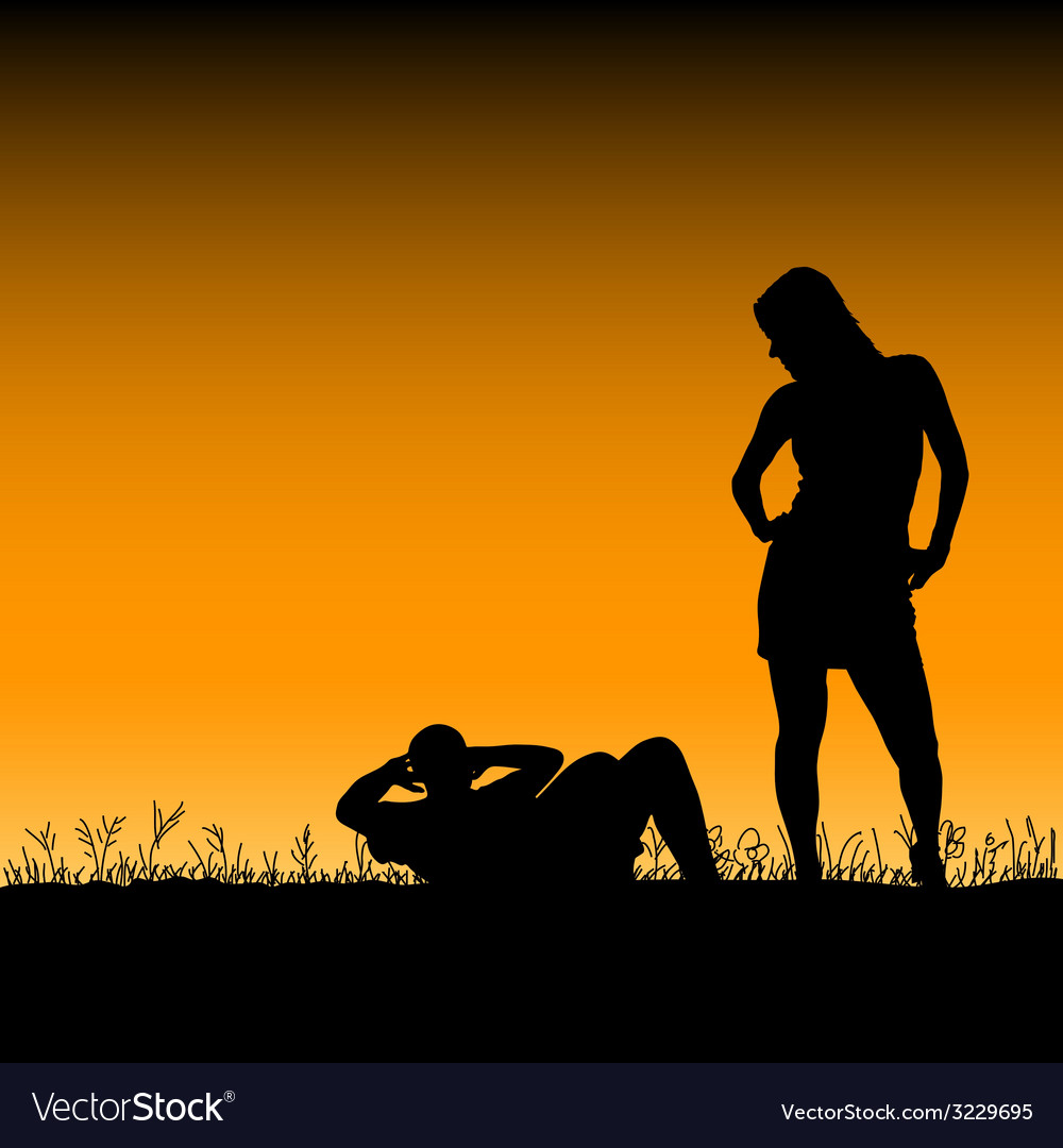 Man and woman in the nature vector | Price: 1 Credit (USD $1)