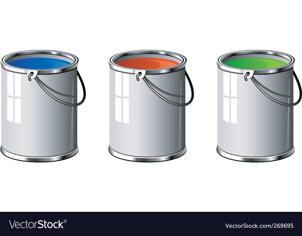 Paint tins vector | Price: 1 Credit (USD $1)
