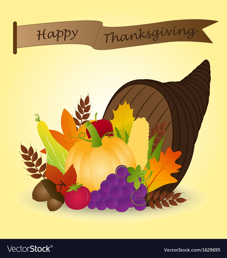 Thanksgiving cornucopia vector   Price: 1 Credit (USD $1)