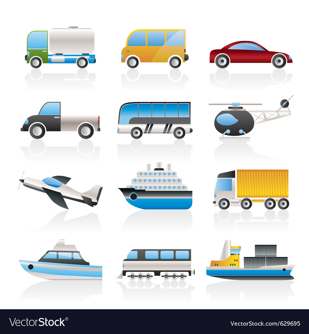 Travel and transportation icons vector | Price: 3 Credit (USD $3)