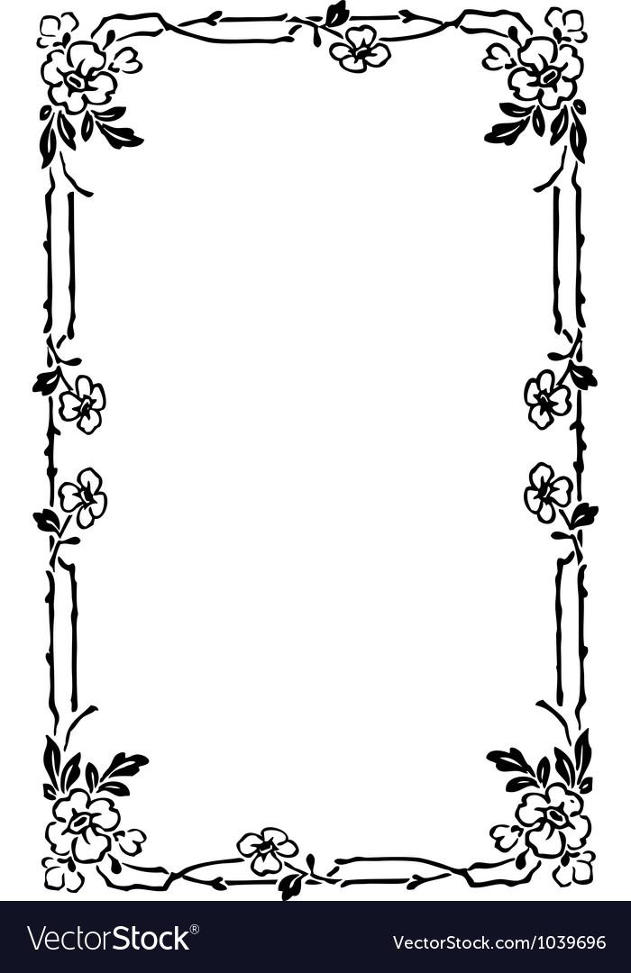 Art nouveau frame vector | Price: 1 Credit (USD $1)