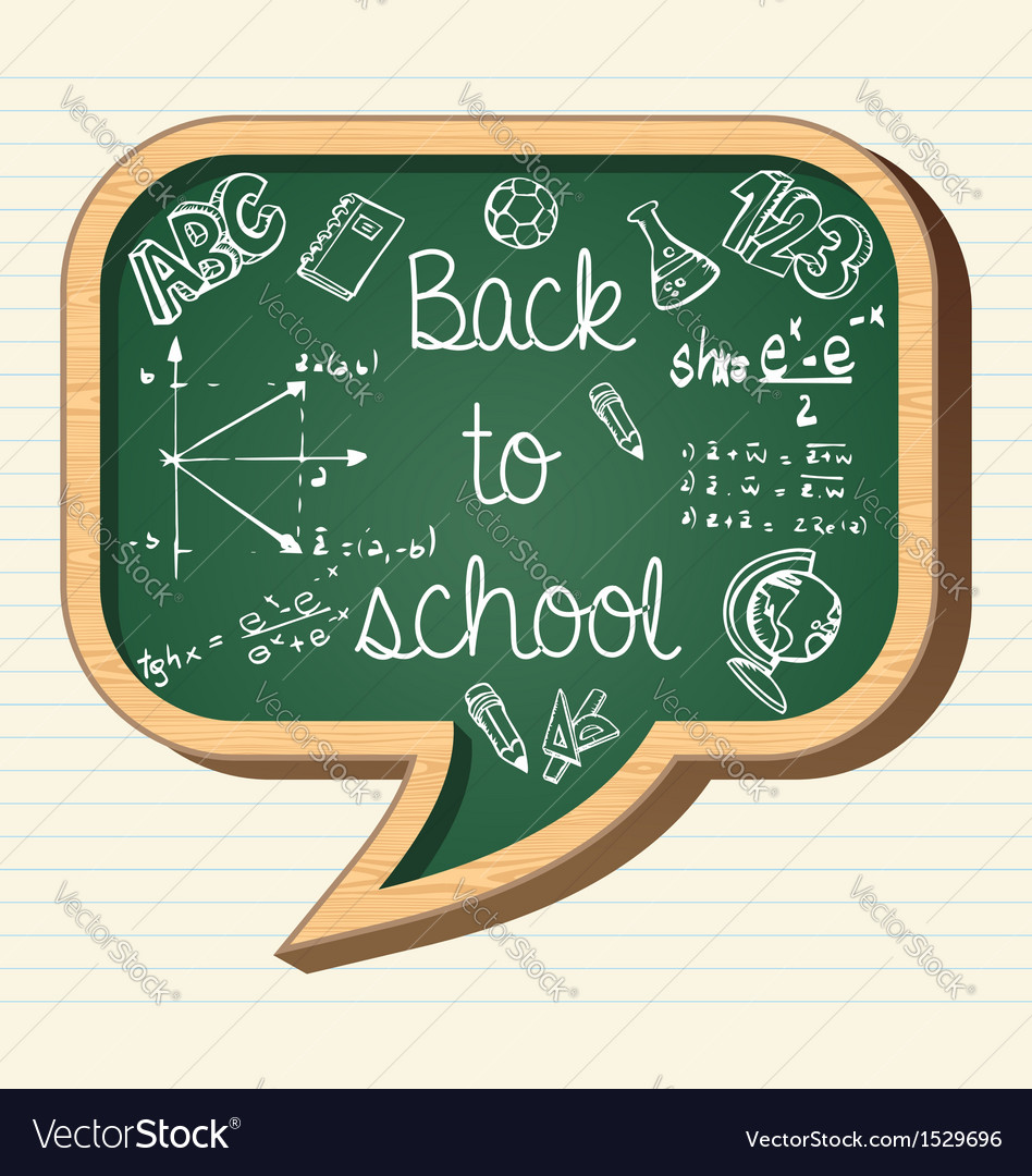 Back to school education icons social bubble vector | Price: 1 Credit (USD $1)