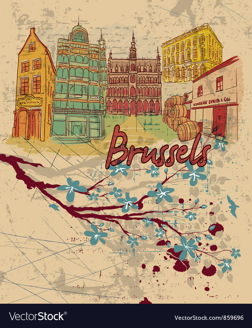 Brussels doodles vector | Price: 3 Credit (USD $3)
