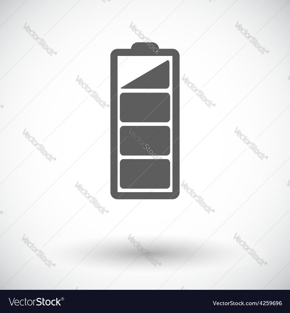 Charging the battery flat single icon vector | Price: 1 Credit (USD $1)