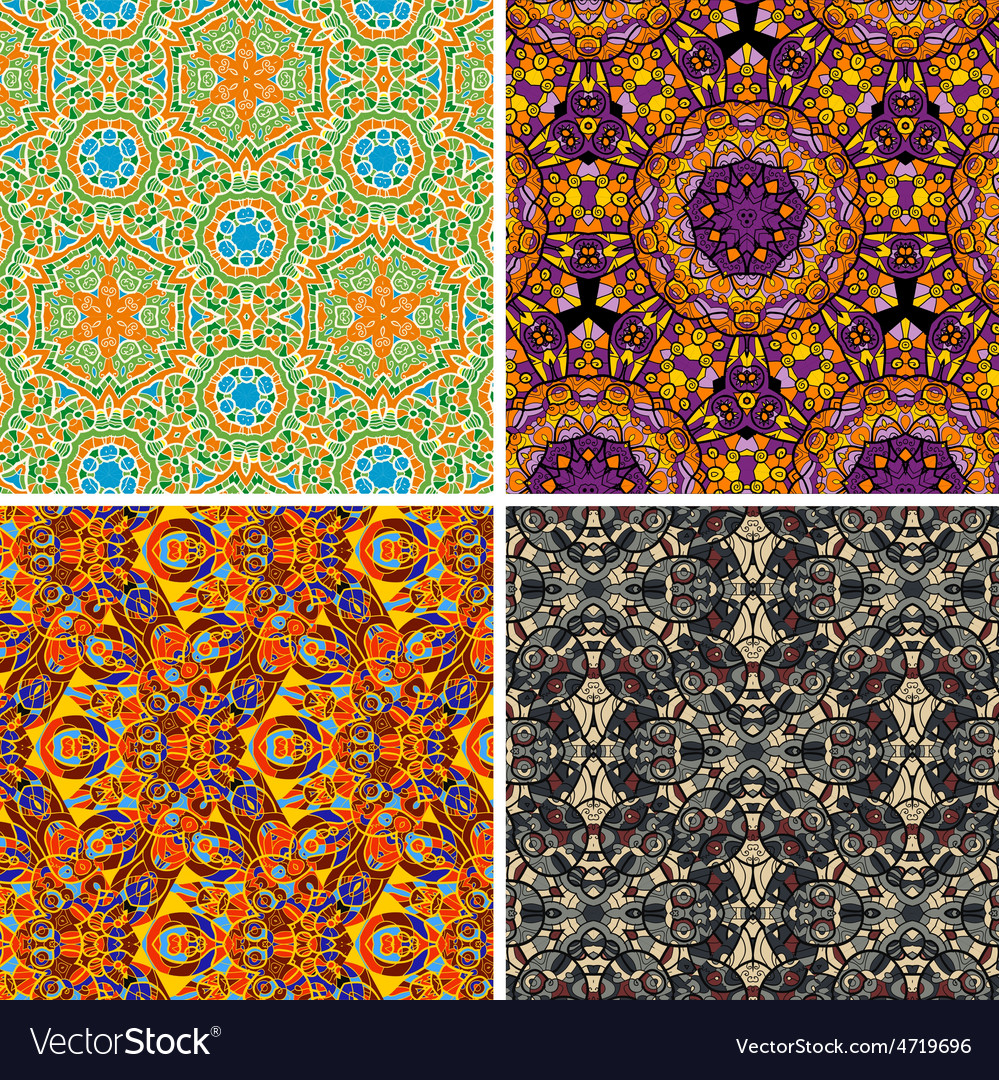 Colorful seamless pattern oriental vector | Price: 1 Credit (USD $1)