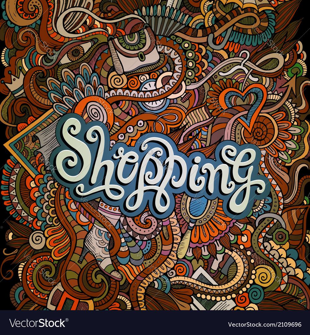 Decorative design card shopping vector | Price: 1 Credit (USD $1)