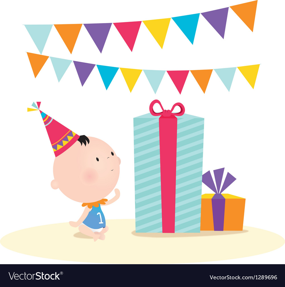 First birthday vector | Price: 1 Credit (USD $1)