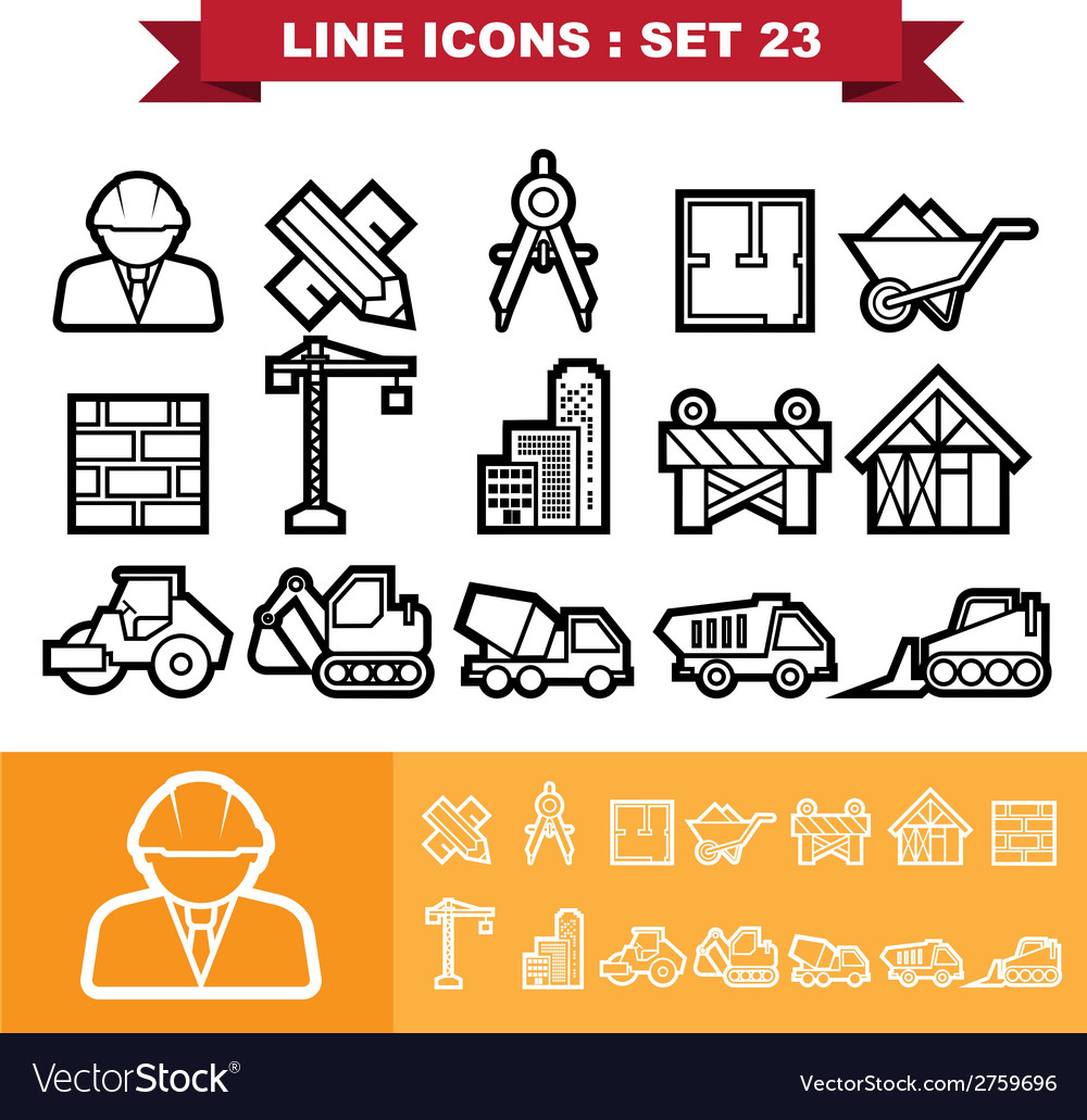 Line icons set 23 vector | Price: 1 Credit (USD $1)