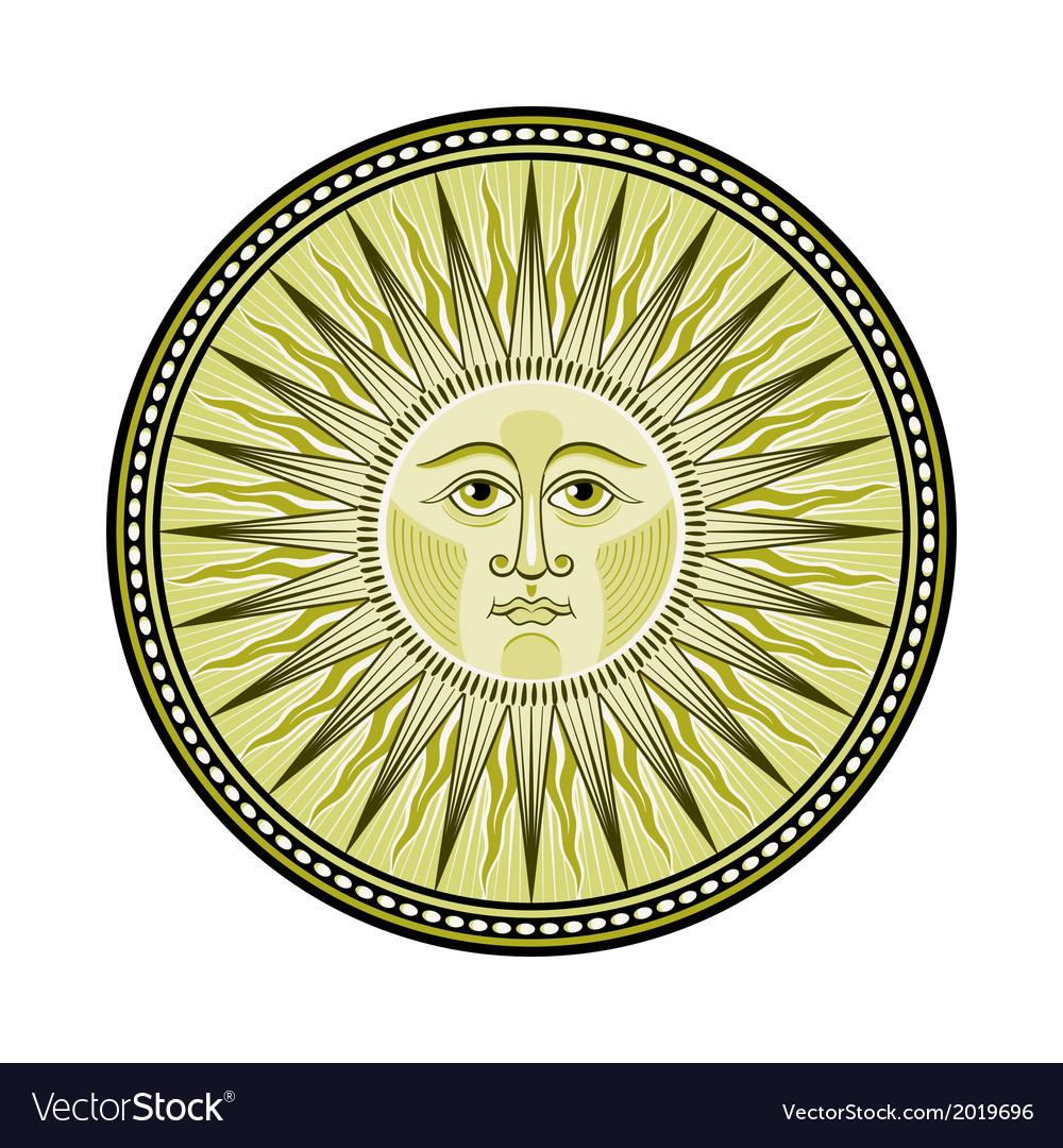 Medieval sun vector | Price: 1 Credit (USD $1)
