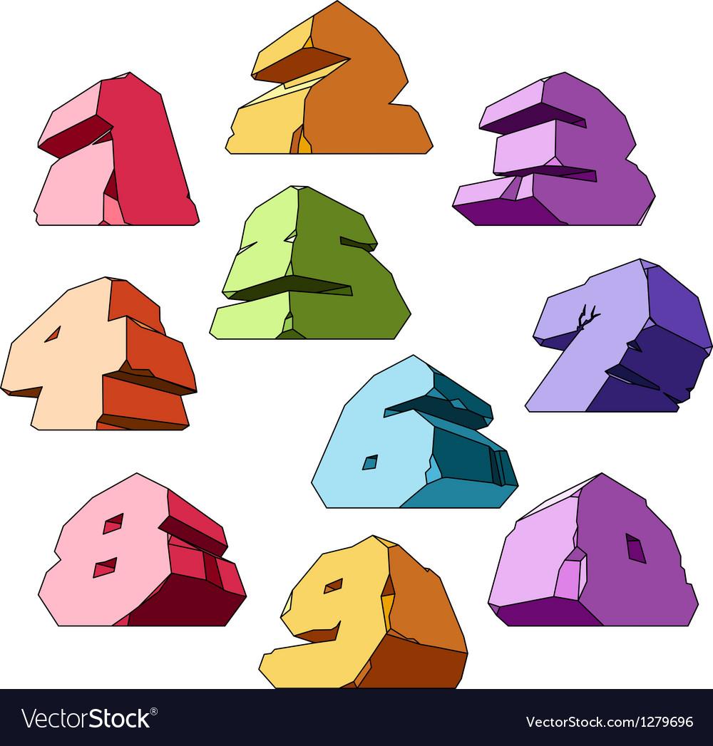 Multicolored alphabet digits vector | Price: 1 Credit (USD $1)