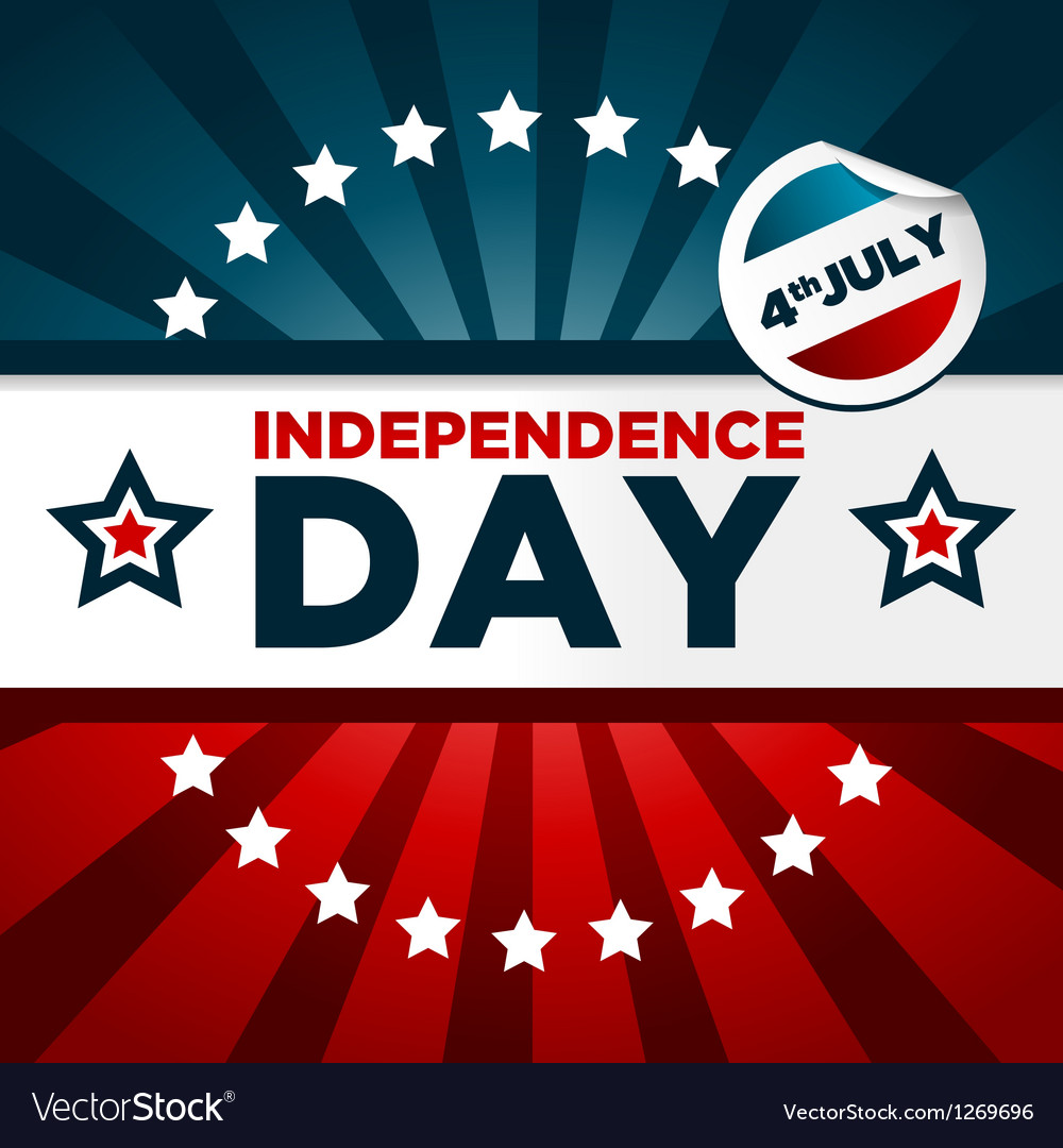 Patriotic independence day banner vector | Price: 1 Credit (USD $1)