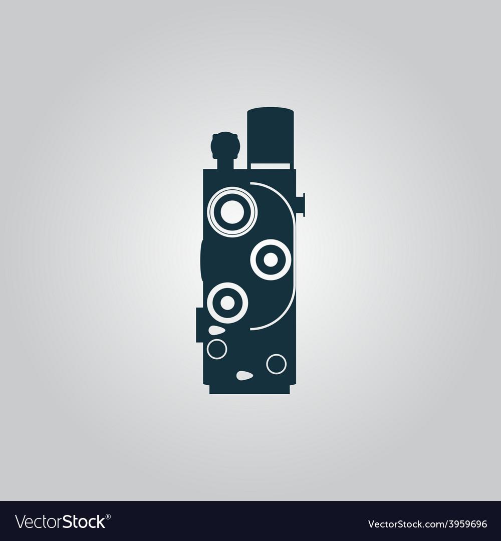 Retro movie camera vector | Price: 1 Credit (USD $1)