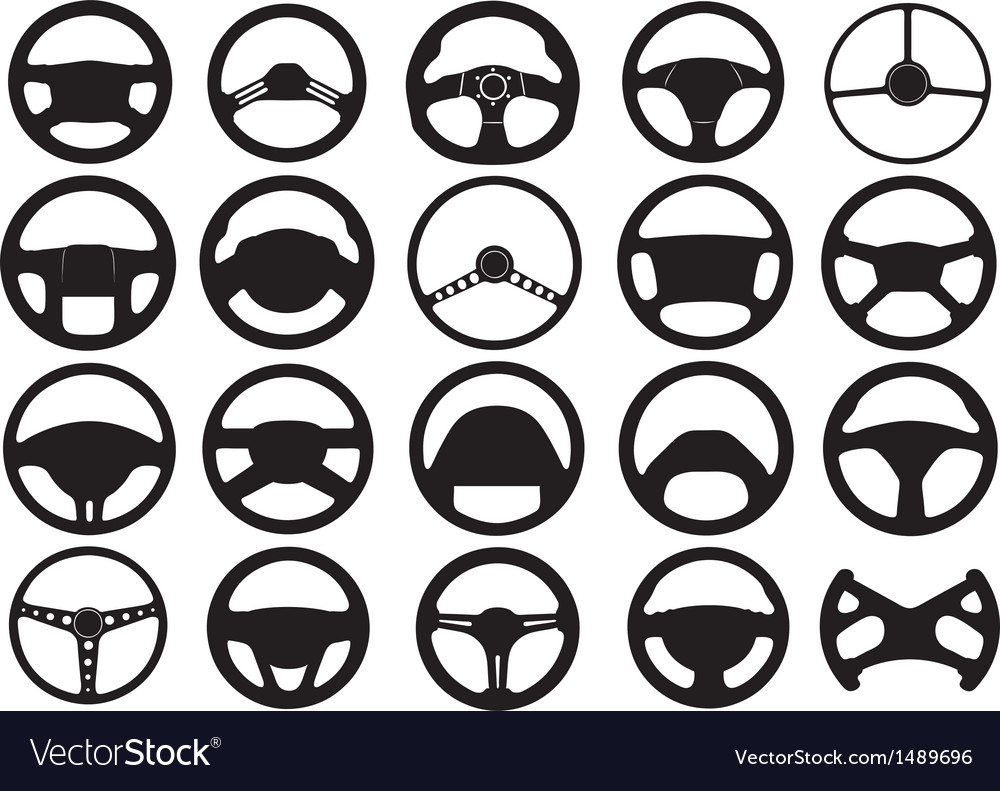 Set of different steering wheels vector | Price: 1 Credit (USD $1)