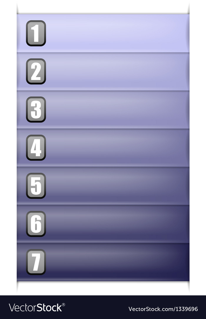 Seven options vertical blue template vector | Price: 1 Credit (USD $1)