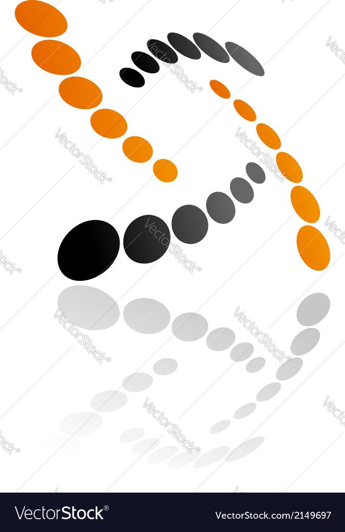 Abstract orange and grey symbol vector | Price: 1 Credit (USD $1)
