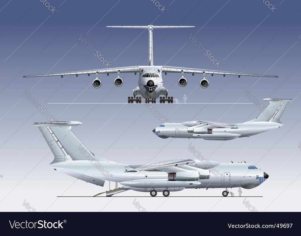 Cargo airplane vector | Price: 5 Credit (USD $5)