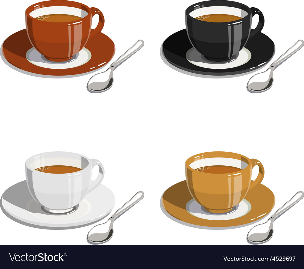Cup of coffee set of vector