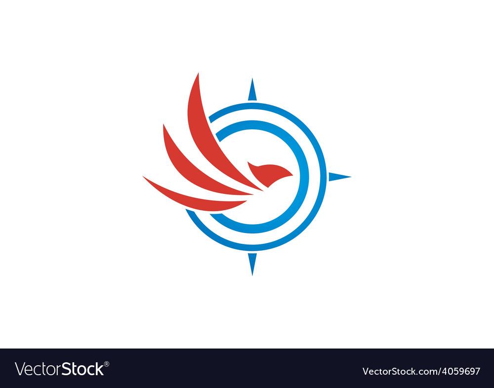 Eagle bird compass abstract logo vector | Price: 1 Credit (USD $1)