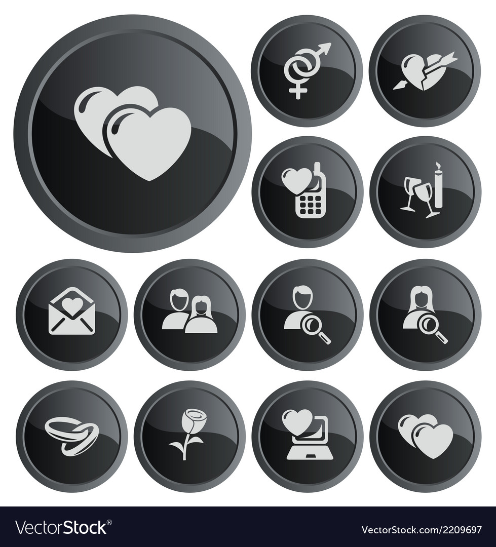 Love and dating buttons vector | Price: 1 Credit (USD $1)
