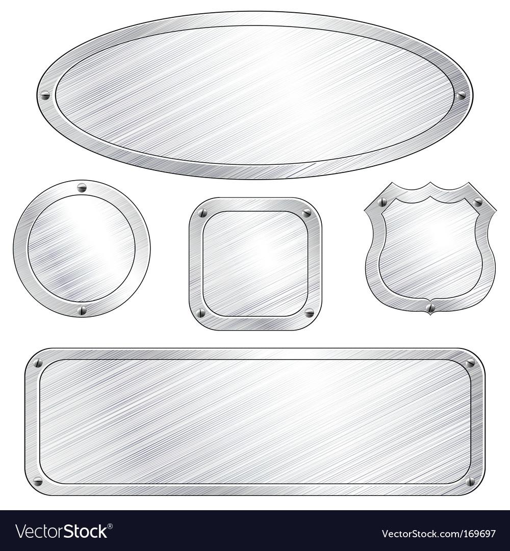 Metal plaques vector | Price: 1 Credit (USD $1)