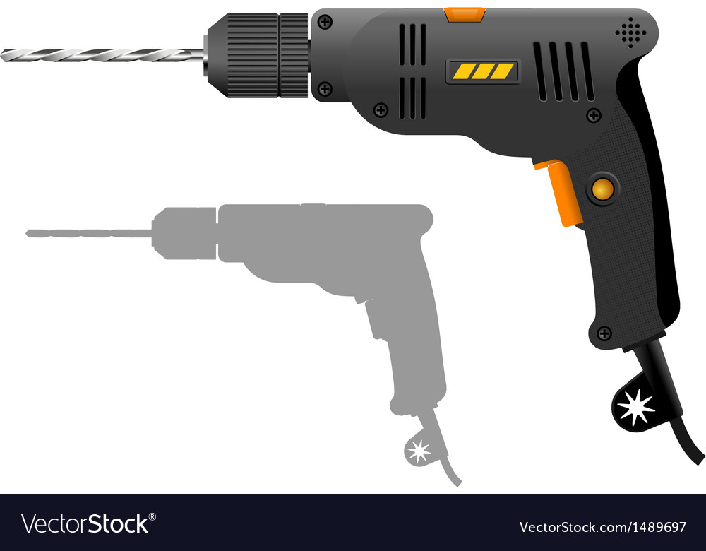 Power drill vector | Price: 1 Credit (USD $1)