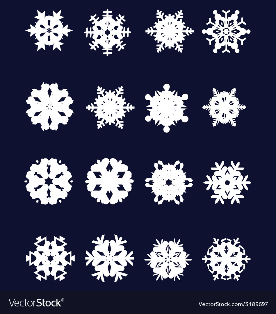 Snowflakes 2 vector | Price: 1 Credit (USD $1)
