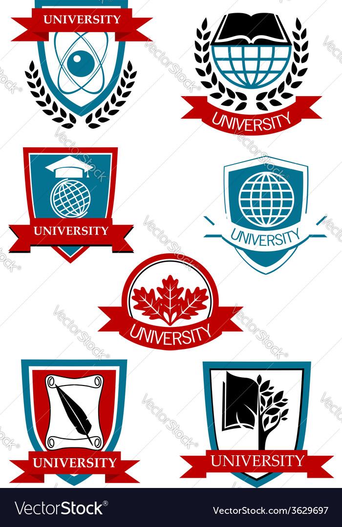 University emblems and symbols vector | Price: 1 Credit (USD $1)