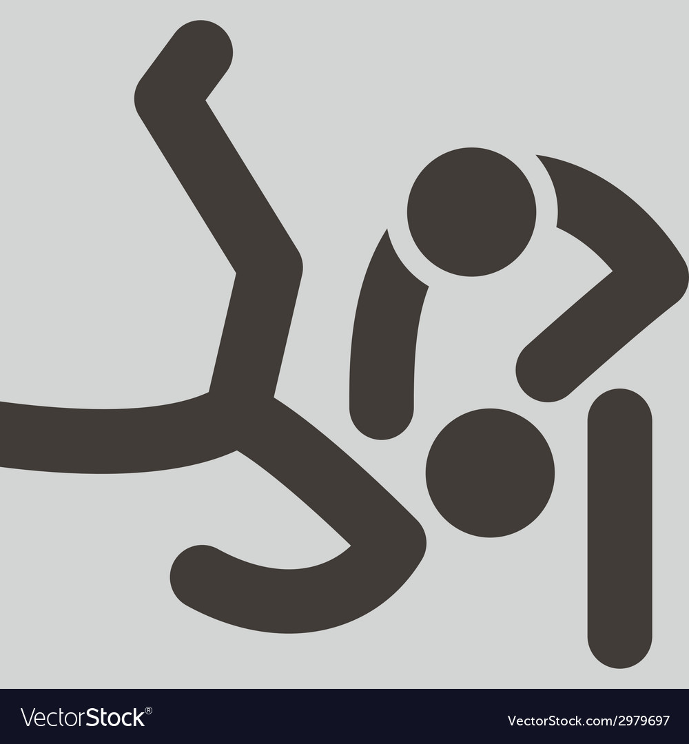 Wrestling freestyle icon vector | Price: 1 Credit (USD $1)