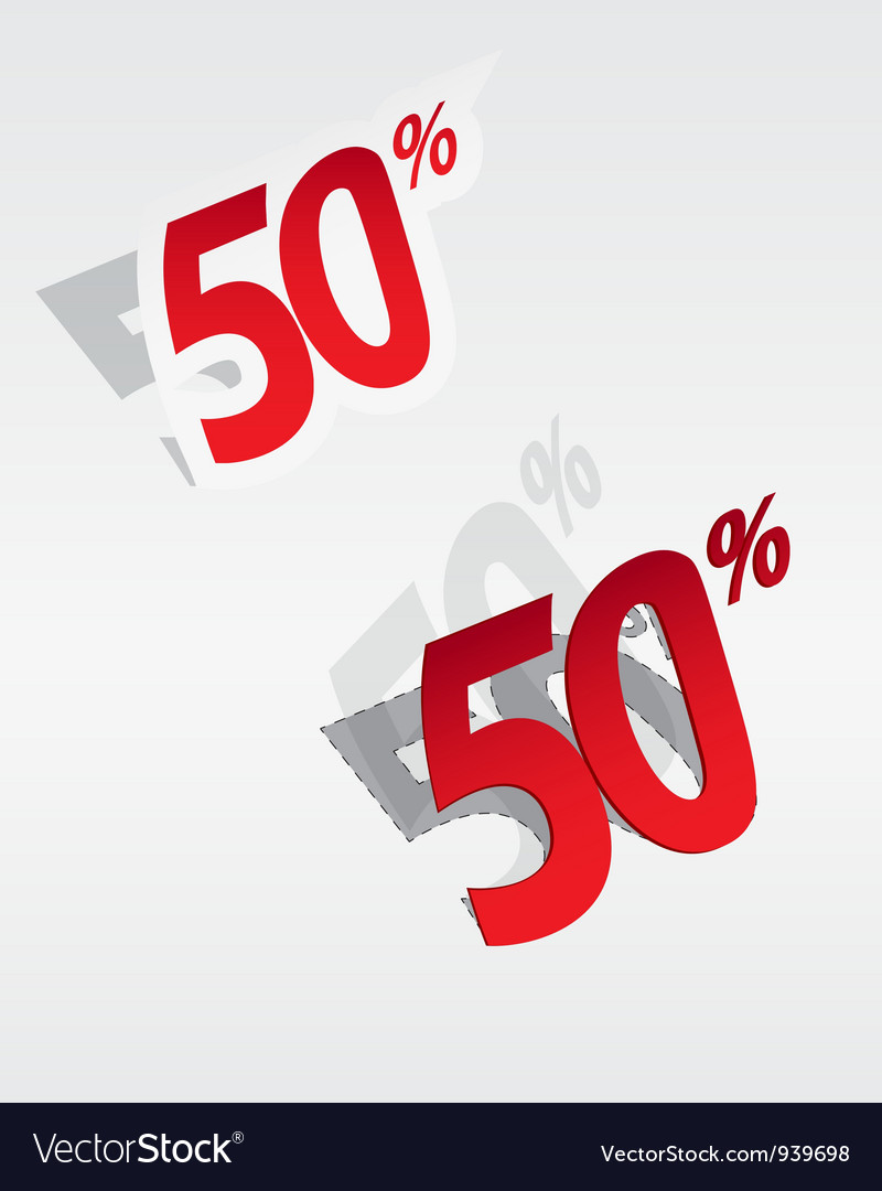 50 sale percents label vector | Price: 1 Credit (USD $1)