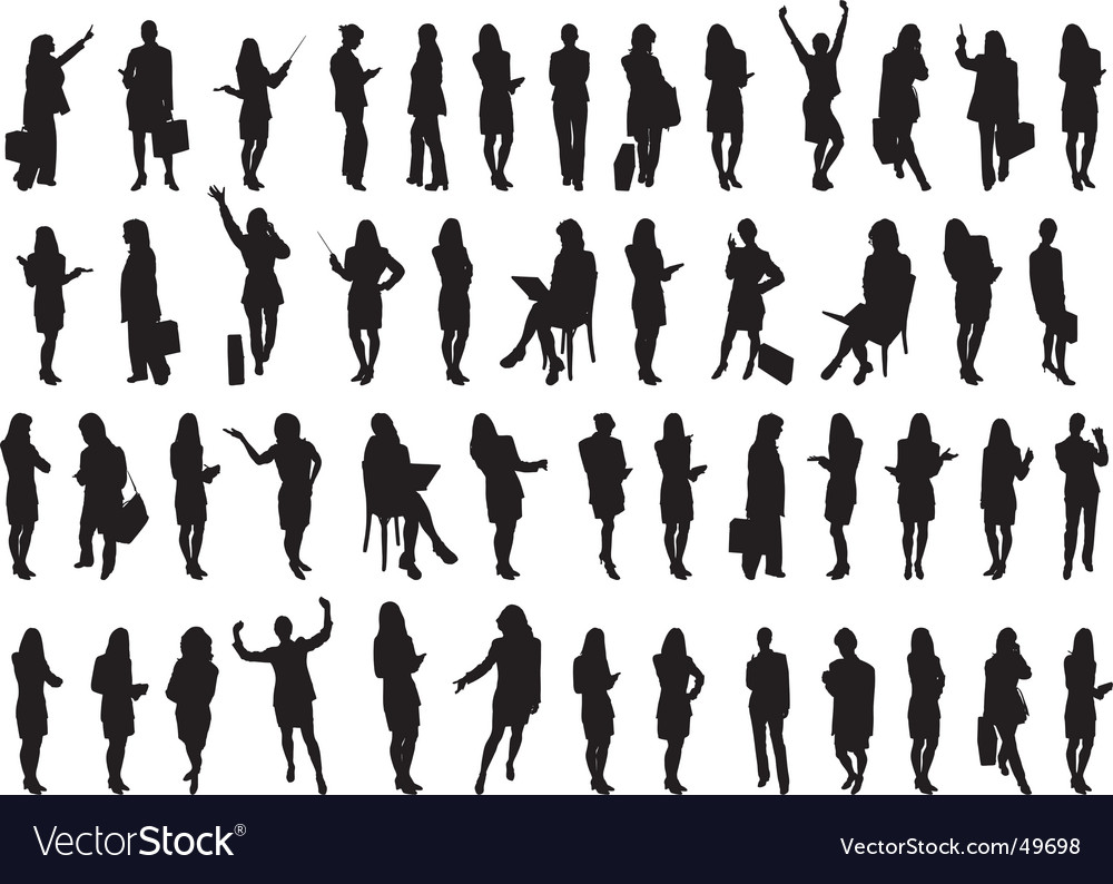 Businesswomen silhouettes vector | Price: 1 Credit (USD $1)
