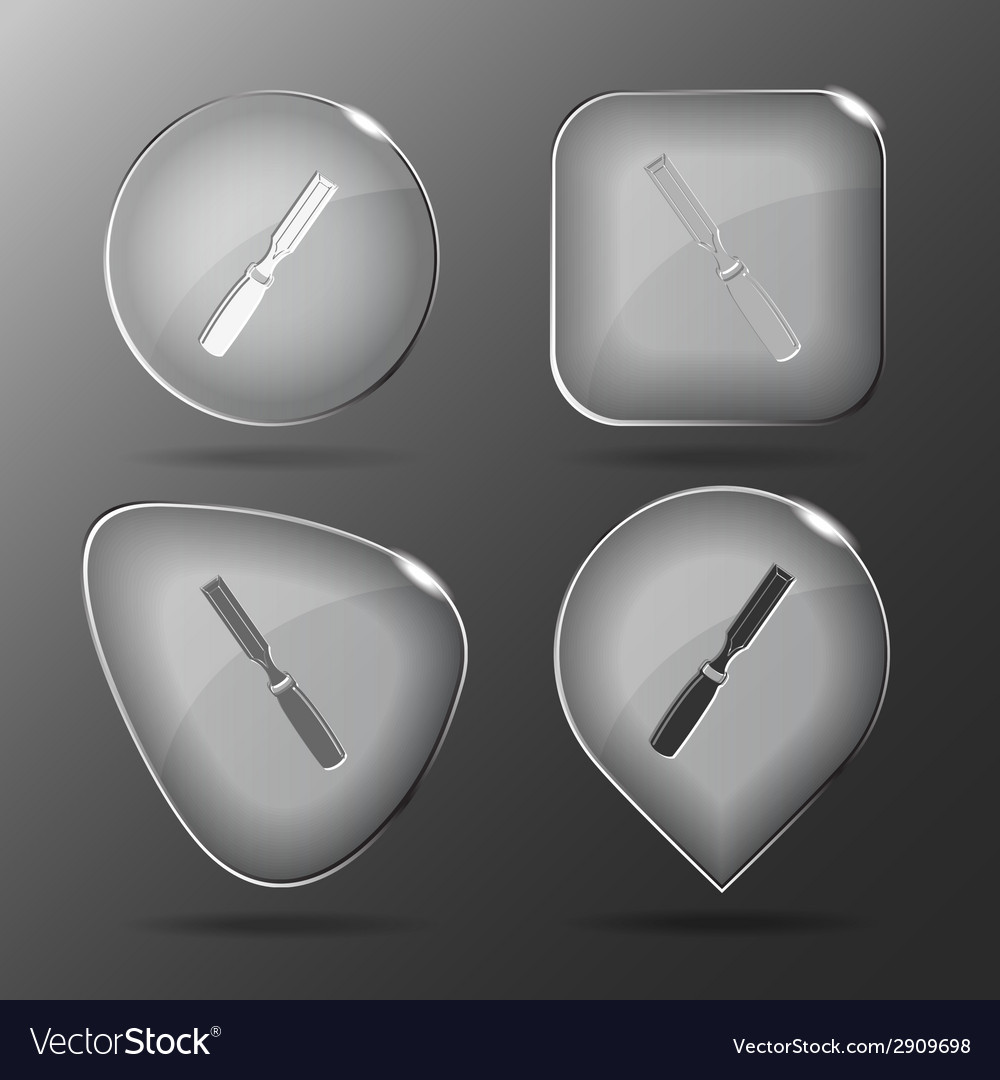 Chisel glass buttons vector | Price: 1 Credit (USD $1)