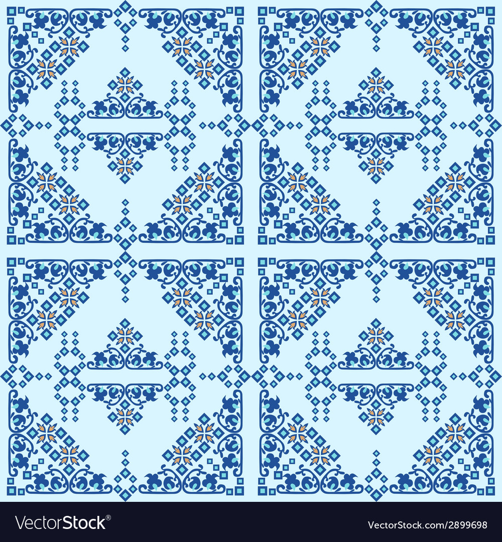 Oriental style seamless pattern ten vector | Price: 1 Credit (USD $1)