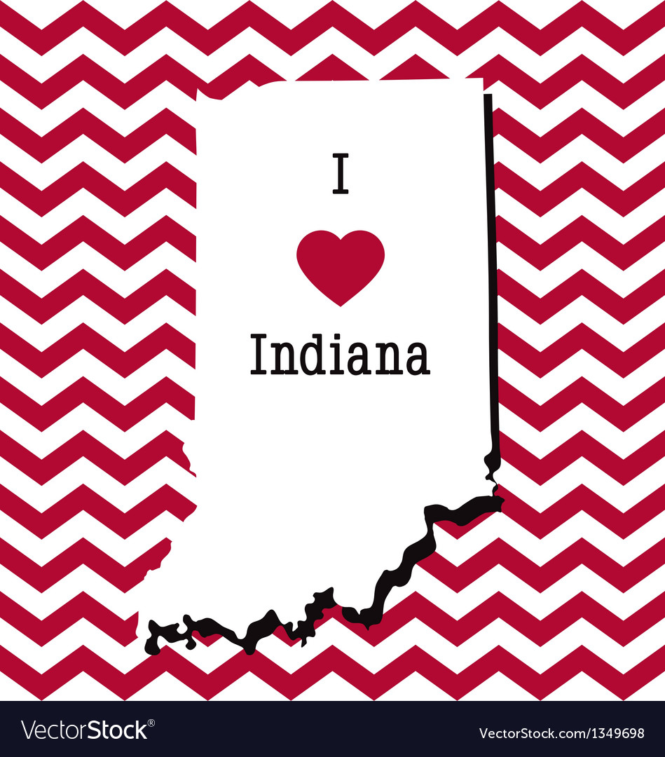 Red and white indiana chevron card vector | Price: 1 Credit (USD $1)