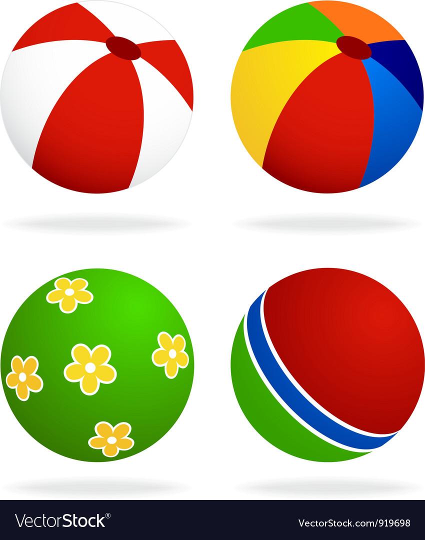 Set of beach balls vector   Price: 1 Credit (USD $1)