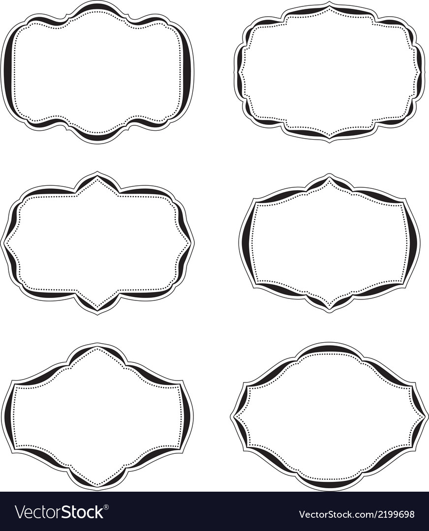 Six blank labels quater vector | Price: 1 Credit (USD $1)