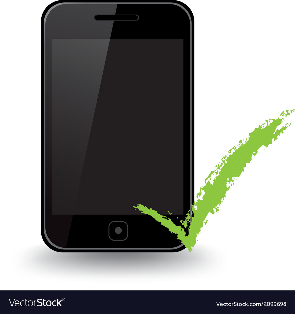 Smart phone check vector | Price: 1 Credit (USD $1)