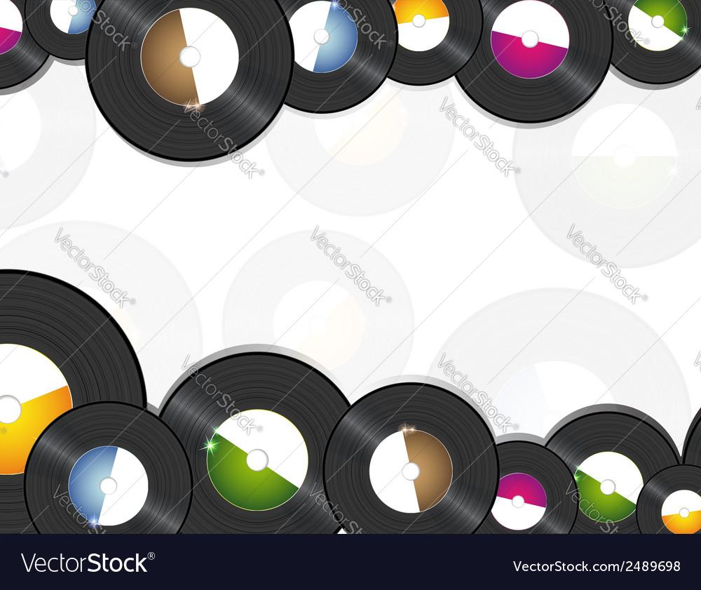 Vinyl music background vector | Price: 1 Credit (USD $1)